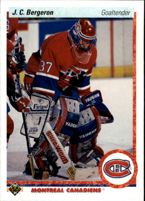 1990-91 Upper Deck #408 Jean-Claude Bergeron RC