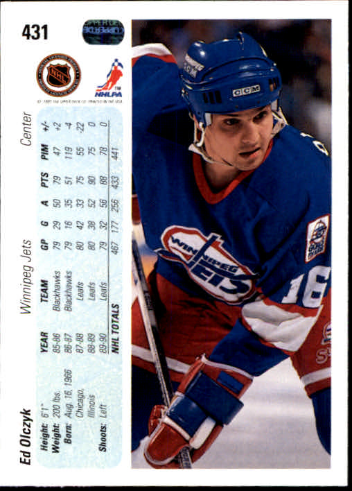 1990-91 Upper Deck #431 Ed Olczyk back image