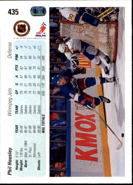 1990-91 Upper Deck #435 Phil Housley back image