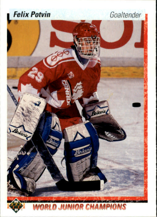 1990-91 Upper Deck #458 Felix Potvin RC