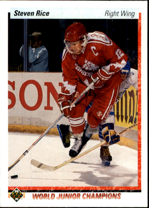 1990-91 Upper Deck #462 Steven Rice RC