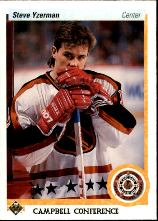 1990-91 Upper Deck #477 Steve Yzerman AS front image