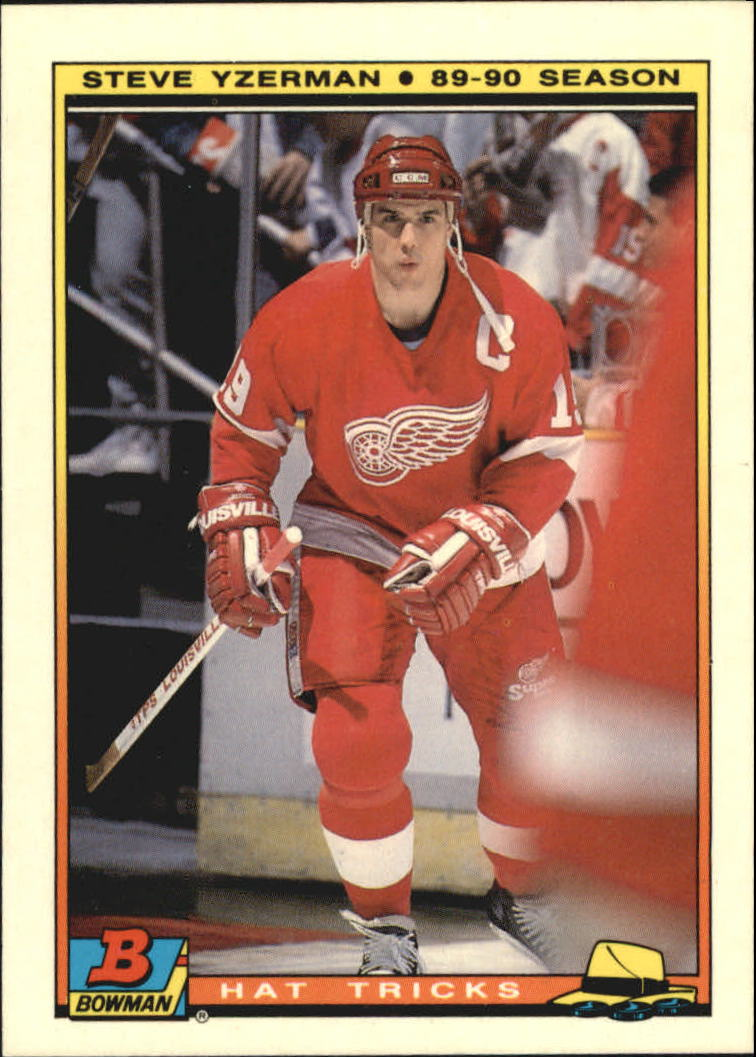 1990-91 Bowman Hat Tricks #5 Steve Yzerman