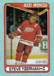 1990-91 O-Pee-Chee Box Bottoms #J Steve Yzerman