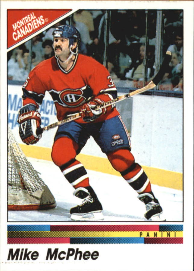 1990-91 Panini Stickers #63 Mike McPhee