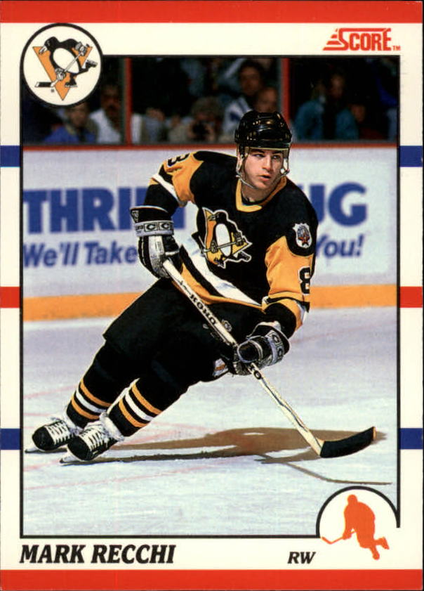 1990-91 Score Canadian #186 Mark Recchi RC