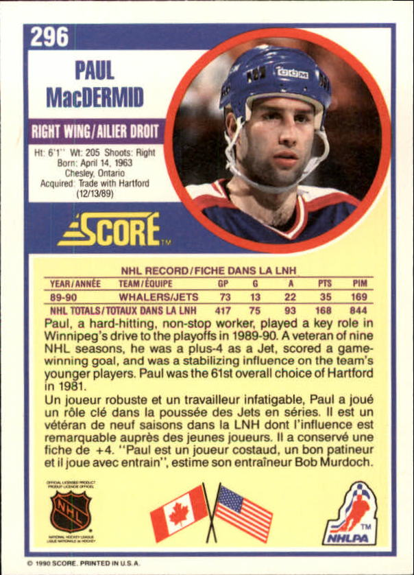 1990-91-Score-Canadian-Hockey-Cards-263-440-Pick-From-List miniature 69