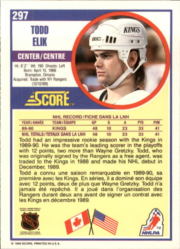 1990-91-Score-Canadian-Hockey-Cards-263-440-Pick-From-List miniature 71