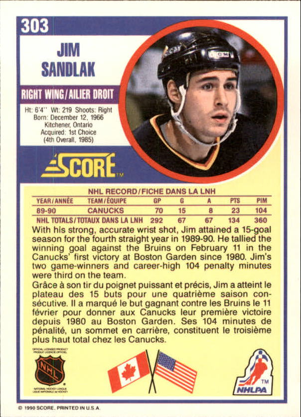 1990-91-Score-Canadian-Hockey-Cards-263-440-Pick-From-List miniature 83