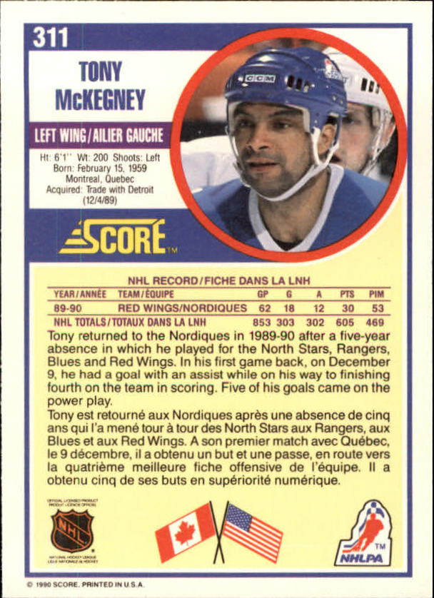 1990-91-Score-Canadian-Hockey-Cards-263-440-Pick-From-List miniature 99