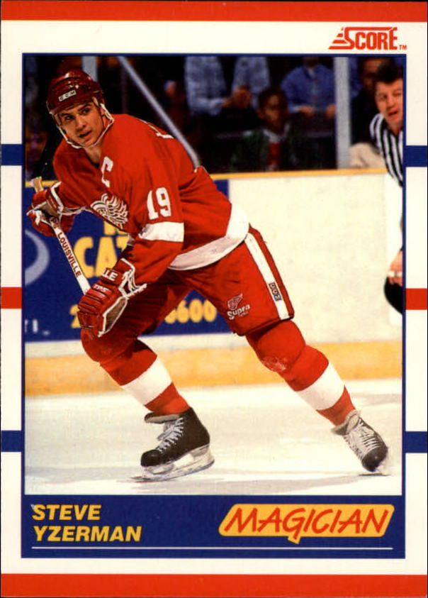 1990-91 Score Canadian #339 Steve Yzerman Magic