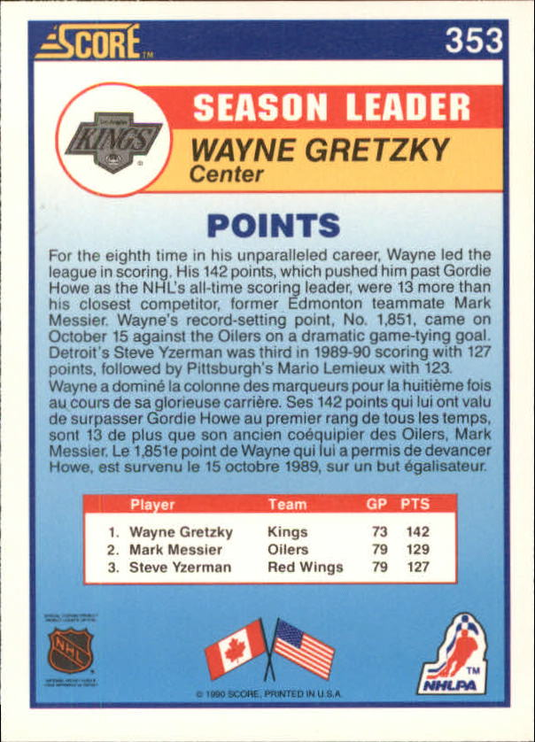 1990-91-Score-Canadian-Hockey-Cards-263-440-Pick-From-List miniature 177
