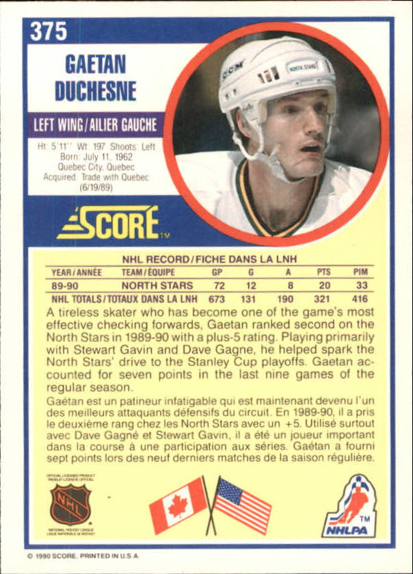 1990-91-Score-Canadian-Hockey-Cards-263-440-Pick-From-List miniature 217