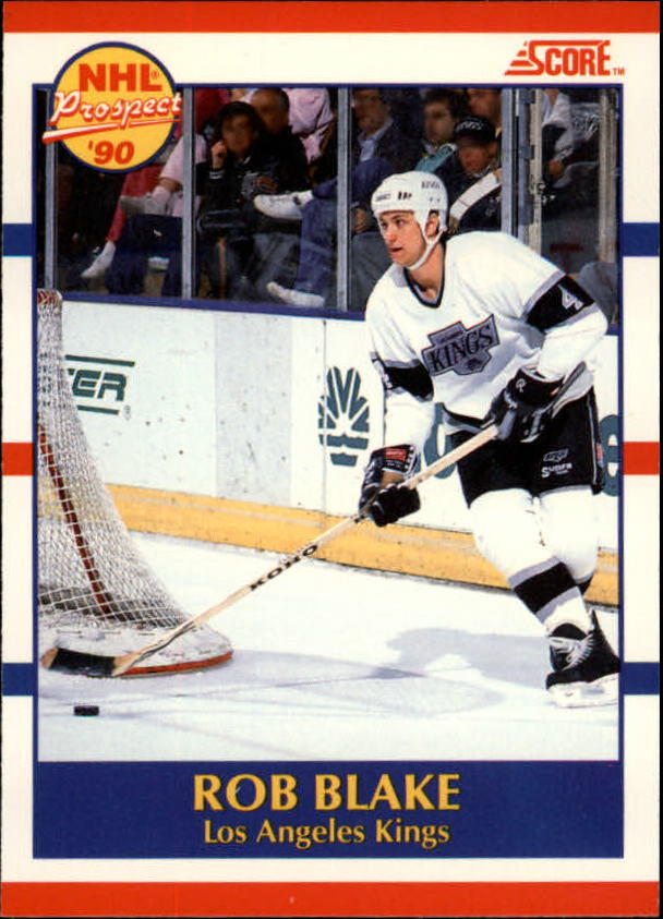 1990-91 Score Canadian #421 Rob Blake RC