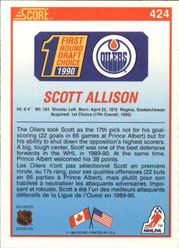 1990-91-Score-Canadian-Hockey-Cards-263-440-Pick-From-List miniature 312