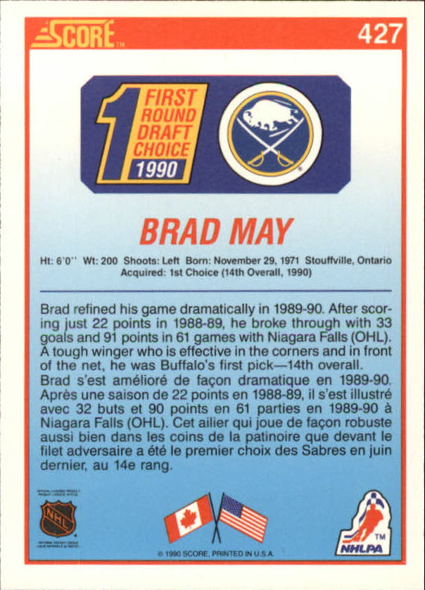 1990-91-Score-Canadian-Hockey-Cards-263-440-Pick-From-List miniature 318