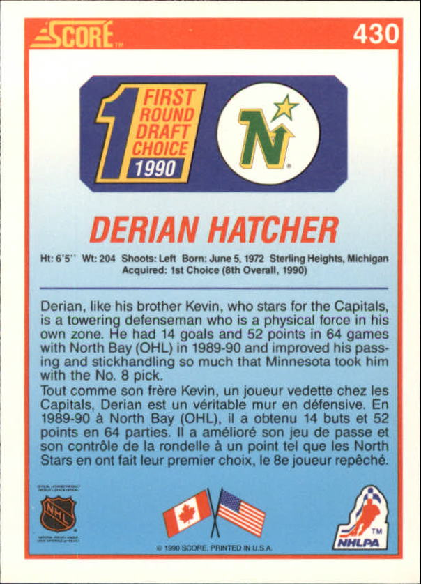 1990-91-Score-Canadian-Hockey-Cards-263-440-Pick-From-List miniature 322