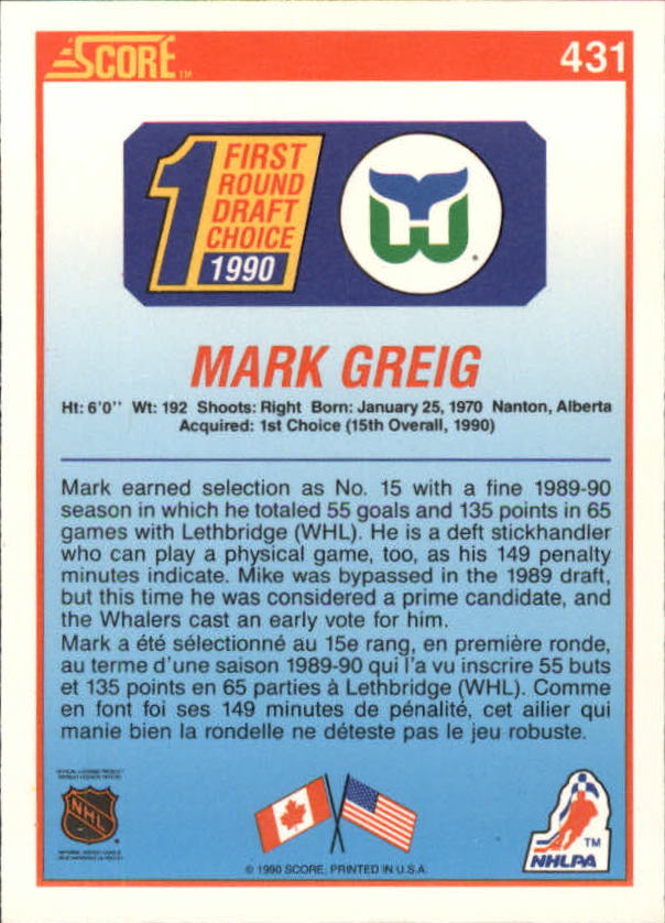 1990-91-Score-Canadian-Hockey-Cards-263-440-Pick-From-List miniature 324