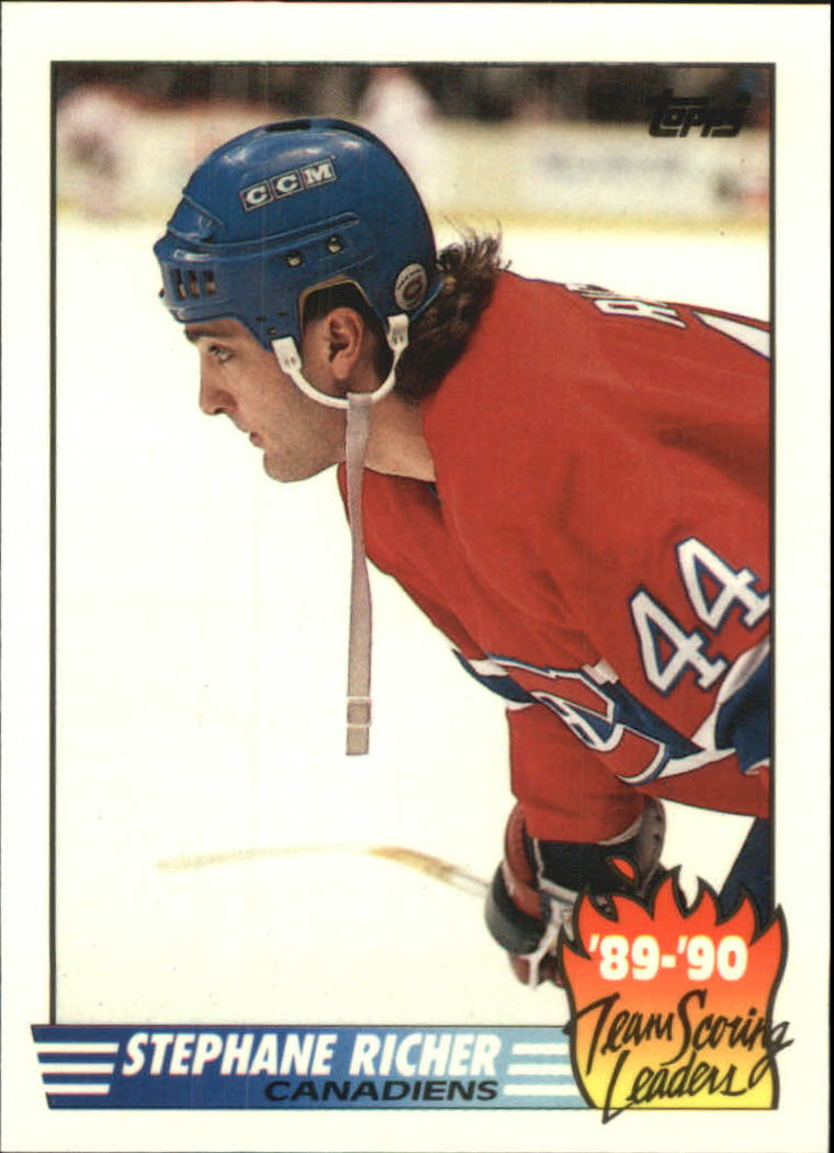 1990-91 Topps Team Scoring Leaders #4 Stephane Richer