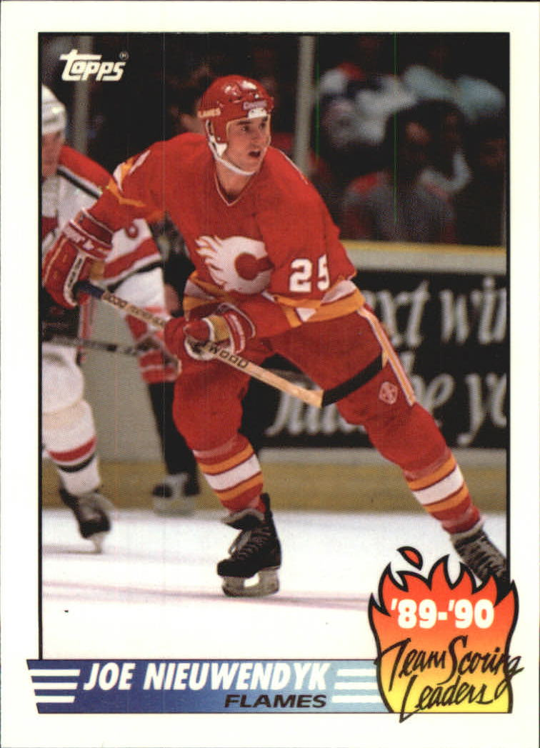 1990-91 Topps Team Scoring Leaders #8 Joe Nieuwendyk