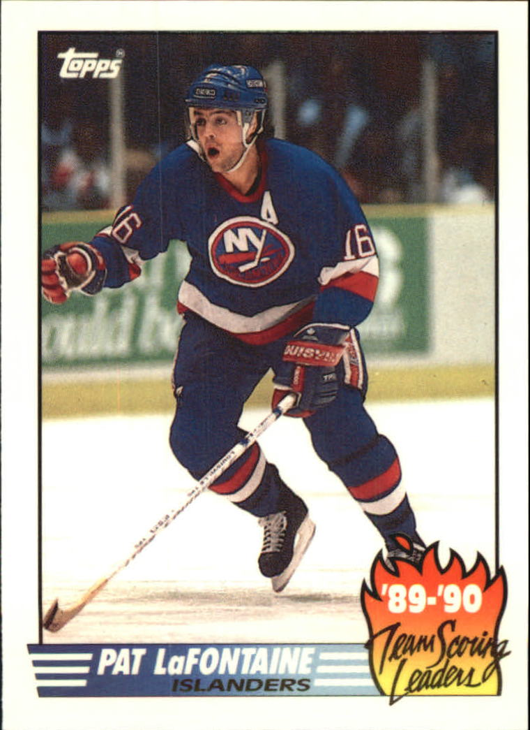 1990-91 Topps Team Scoring Leaders #10 Pat LaFontaine