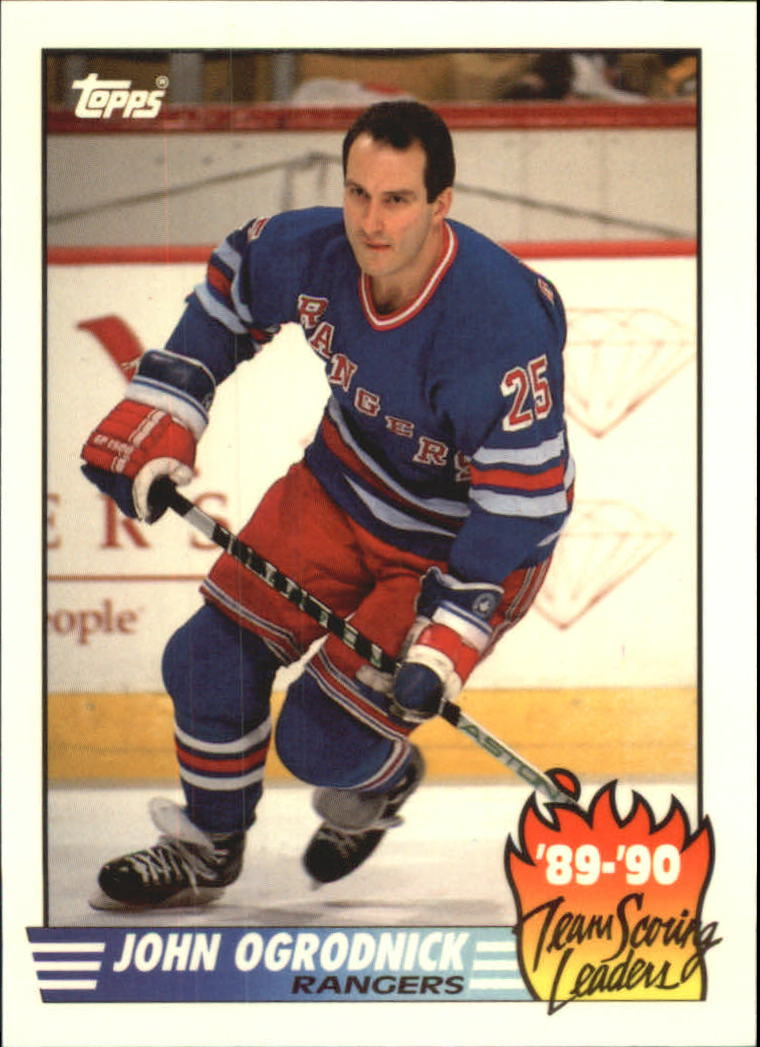 1990-91 Topps Team Scoring Leaders #18 John Ogrodnick