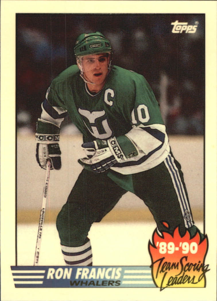 1990-91 Topps Team Scoring Leaders #21 Ron Francis