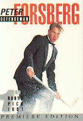 1991 Arena Draft Picks #4 Peter Forsberg UER