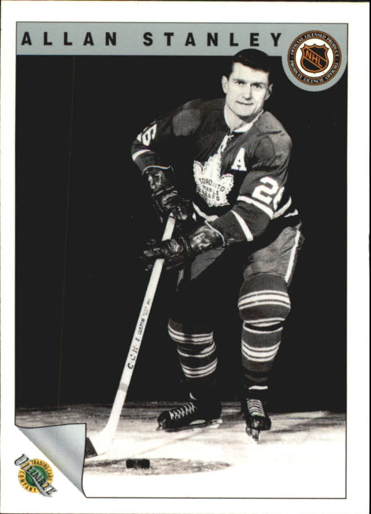 1991-92 Ultimate Original Six #44 Allan Stanley front image