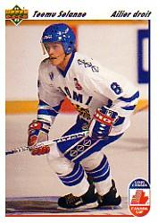 1991-92 Upper Deck French #21 Teemu Selanne RC CC