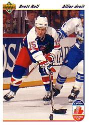 1991-92 Upper Deck French #33 Brett Hull CC
