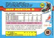 1991-92 O-Pee-Chee #243 Jeff Norton back image