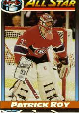 1991-92 O-Pee-Chee #270 Patrick Roy AS
