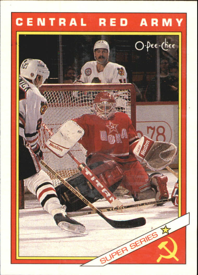 1991-92 O-Pee-Chee Inserts #29R Central Red Army Team