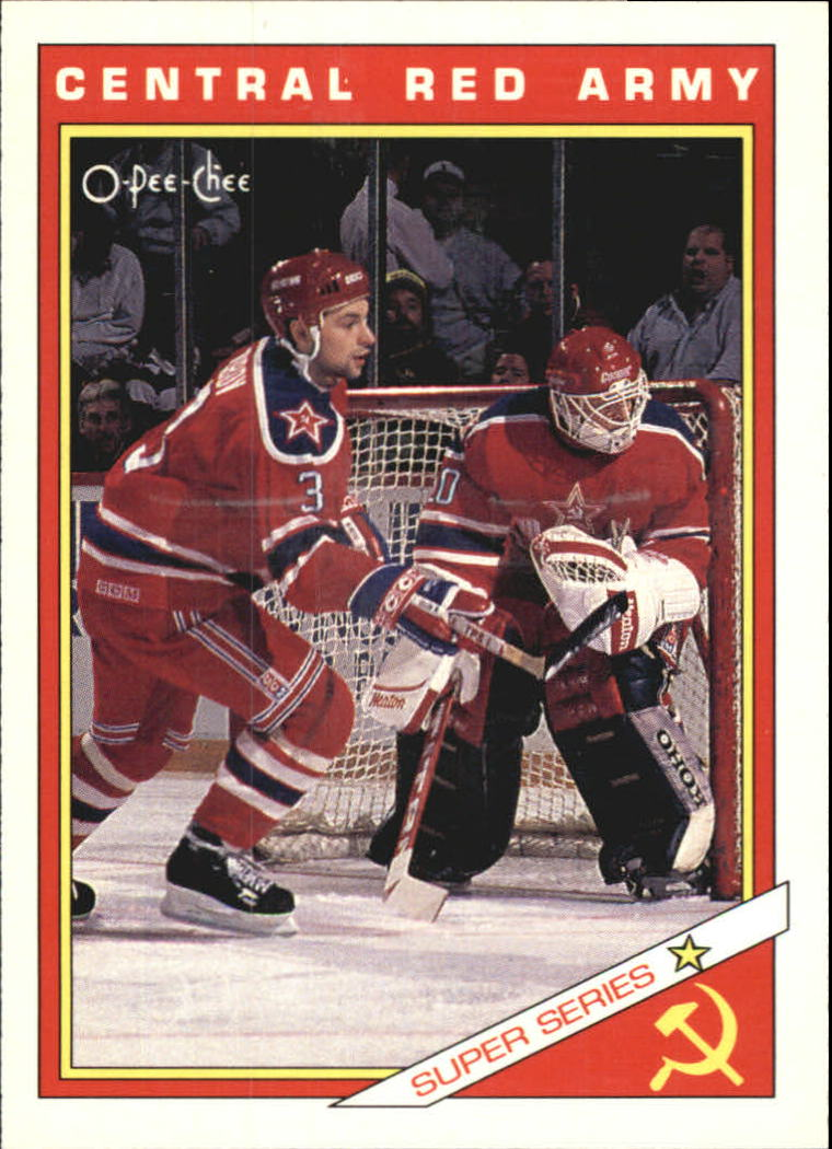 1991-92 O-Pee-Chee Inserts #30R Central Red Army Team