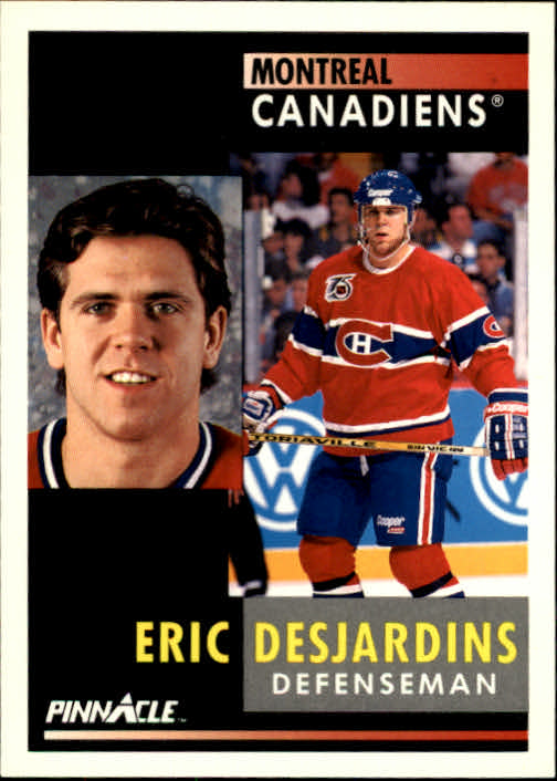 1991-92 Pinnacle #73 Eric Desjardins