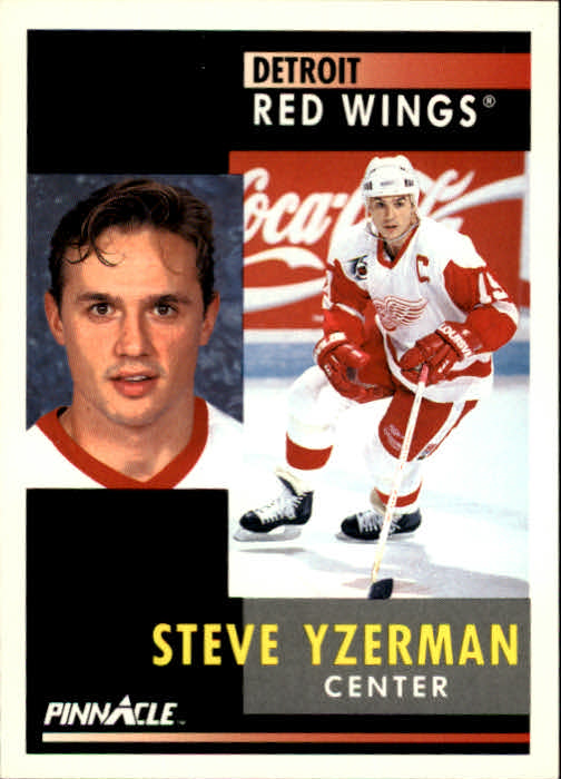 1991-92 Pinnacle #75 Steve Yzerman