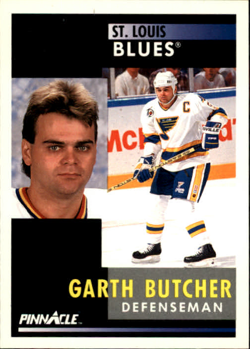 1991-92 Pinnacle #85 Garth Butcher