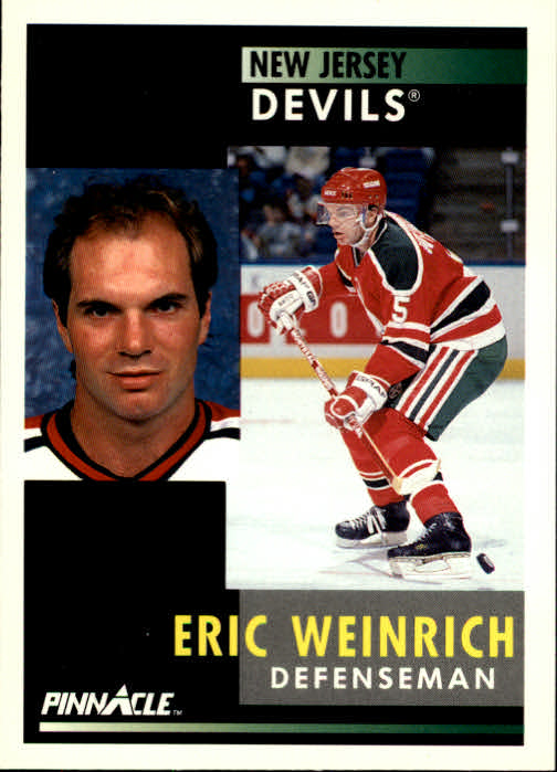1991-92 Pinnacle #89 Eric Weinrich