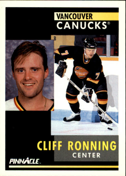 1991-92 Pinnacle #106 Cliff Ronning