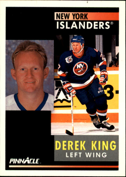 1991-92 Pinnacle #107 Derek King