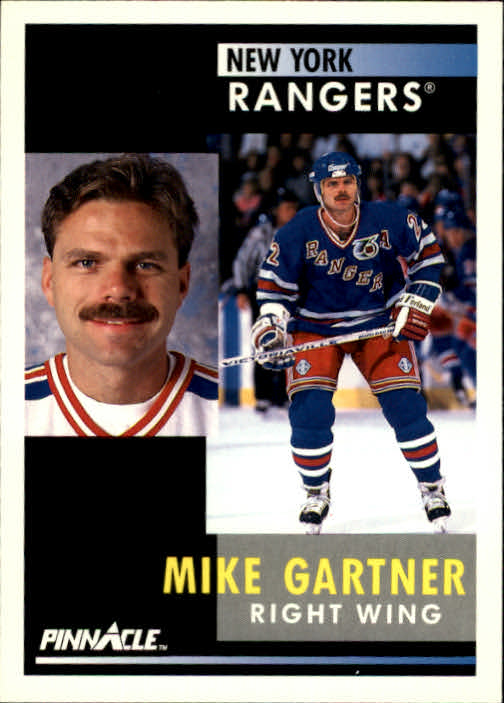 1991-92 Pinnacle #202 Mike Gartner