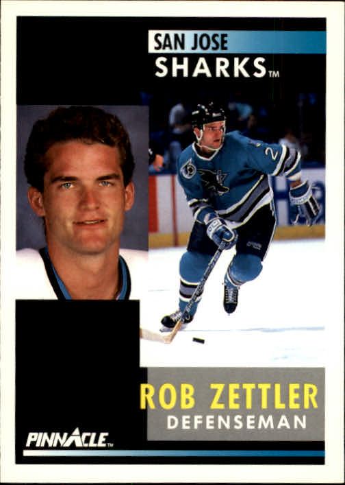 1991-92 Pinnacle #213 Rob Zettler
