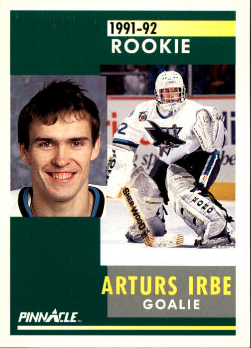 1991-92 Pinnacle #323 Arturs Irbe