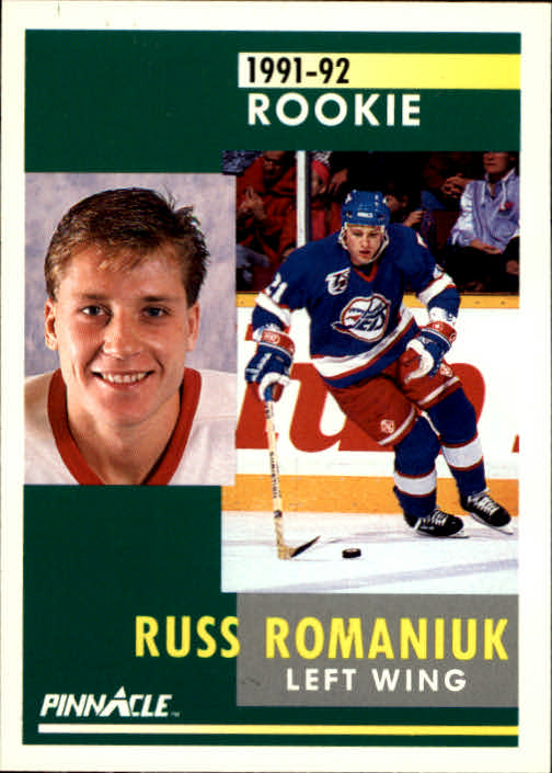 1991-92 Pinnacle #324 Russ Romaniuk RC
