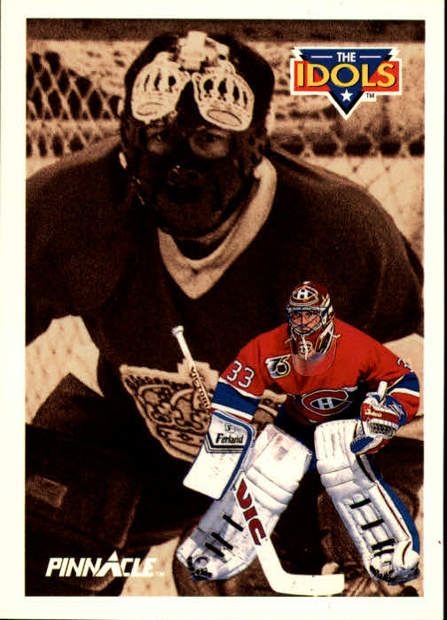 1991-92 Pinnacle #387 Patrick Roy IDOL/(Rogatien Vachon)