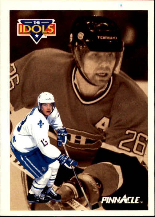 1991-92 Pinnacle #389 Mats Sundin IDOL/(Mats Naslund)