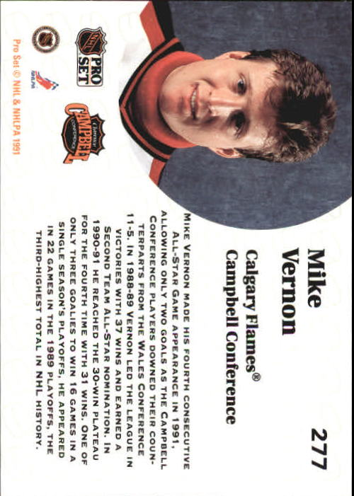 1991-92 Pro Set #277 Mike Vernon AS back image