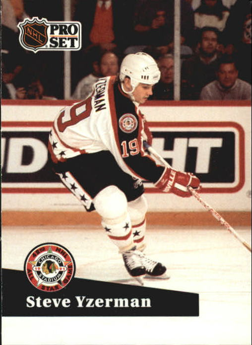 1991-92 Pro Set #281 Steve Yzerman AS