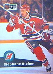 1991-92 Pro Set #420 Stephane Richer
